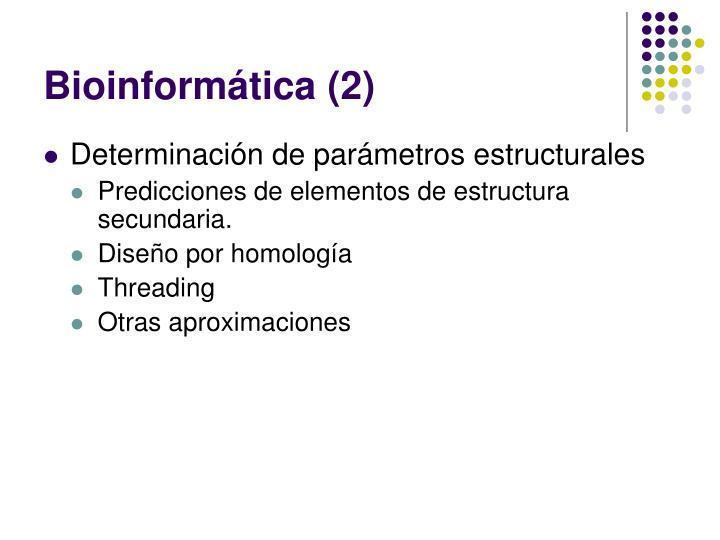 Bioinformática (2)
