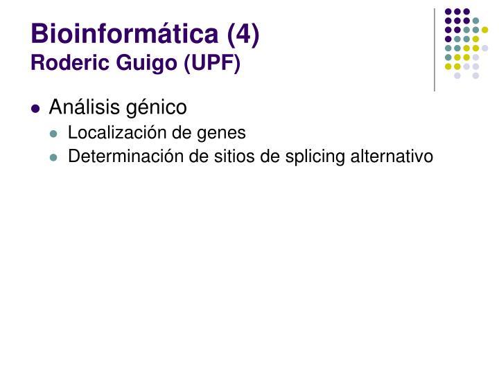 Bioinformática (4)