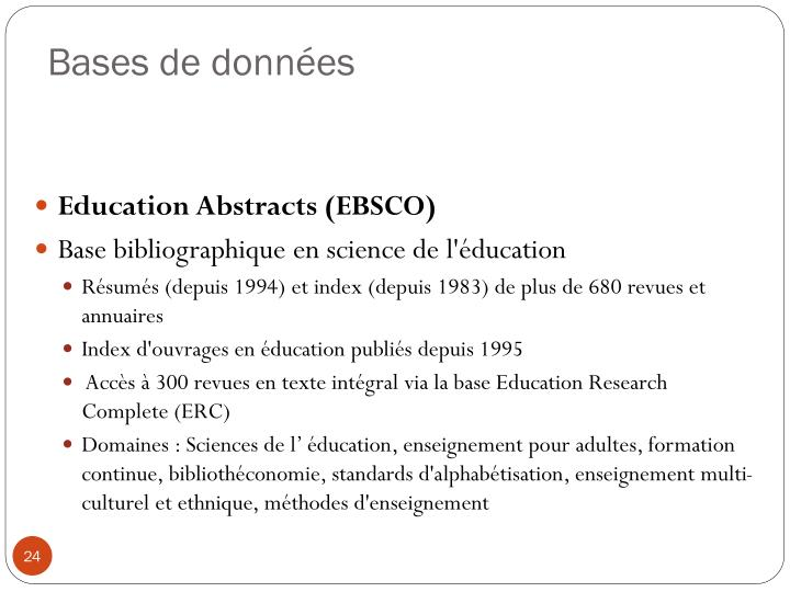 Education Abstracts (EBSCO)