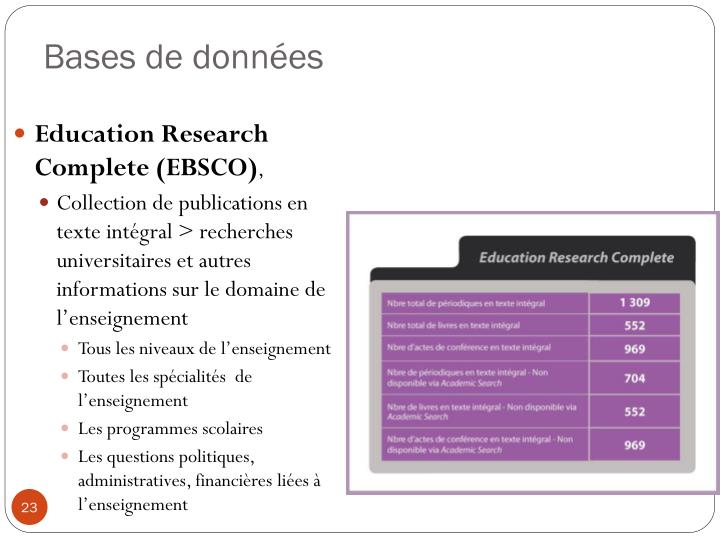 Education Research Complete (EBSCO)