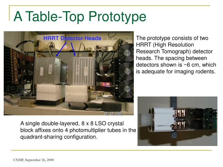 A Table-Top Prototype