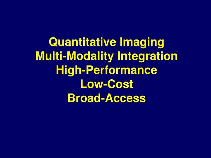 Quantitative Imaging