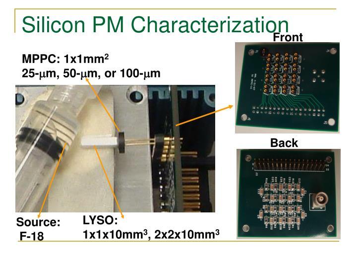 Silicon PM Characterization