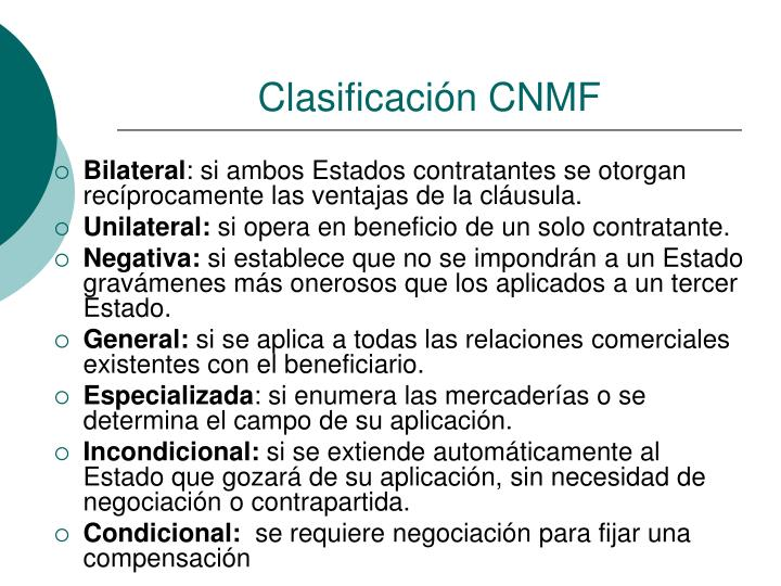 Clasificación CNMF