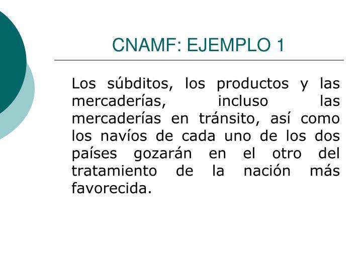 CNAMF: EJEMPLO 1