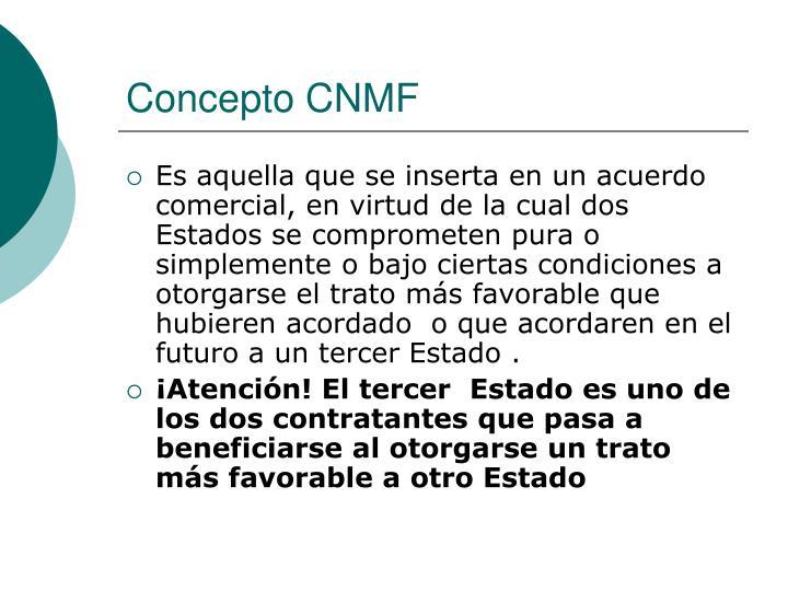 Concepto CNMF