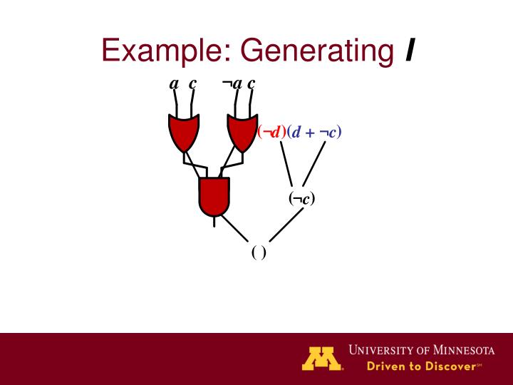 Example: Generating