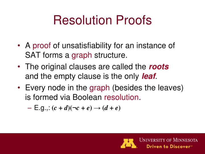 Resolution Proofs