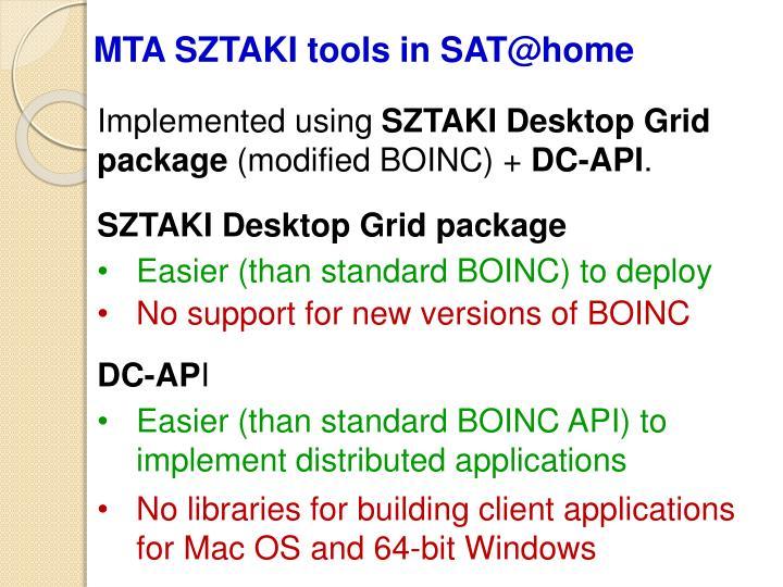 MTA SZTAKI tools in