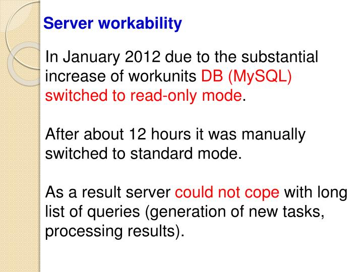 Server workability
