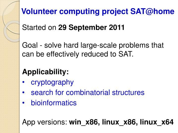 Volunteer computing project