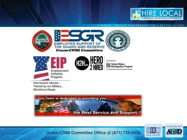 Guam-CNMI Committee Office @ (671) 735-0456