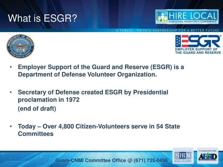 What is ESGR?