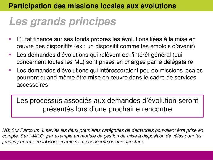 Participation des missions locales aux évolutions