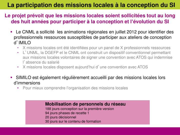 La participation des missions locales à la conception du SI