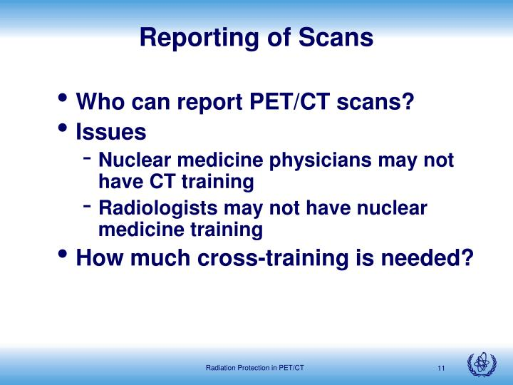 Reporting of Scans