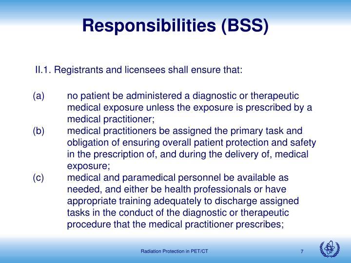 Responsibilities (BSS)