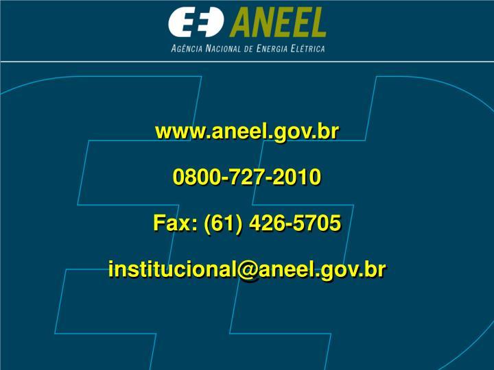 www.aneel.gov.br