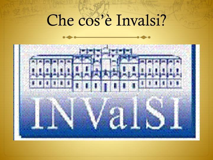 Che cos'è Invalsi?