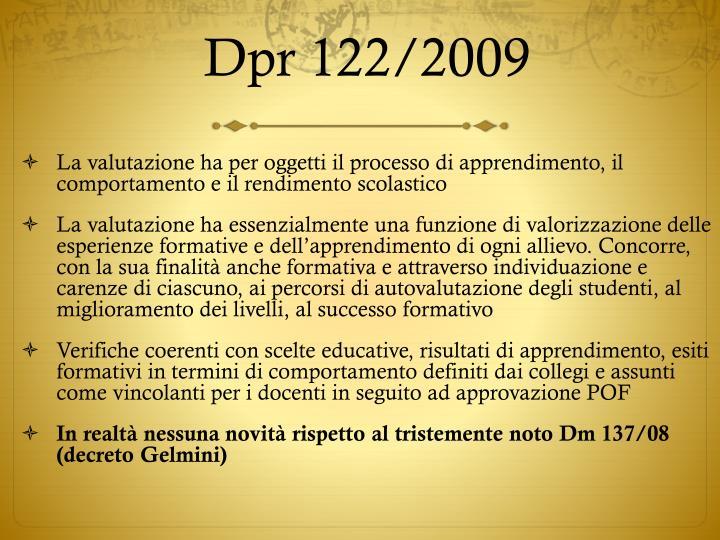 Dpr 122/2009
