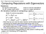 computing reputations with eigenvectors