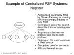 example of centralized p2p systems napster