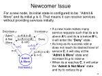 newcomer issue