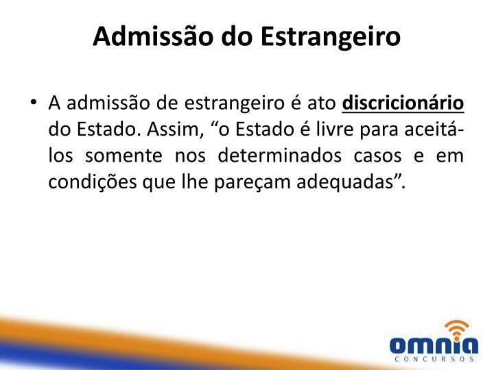 Admissão do Estrangeiro