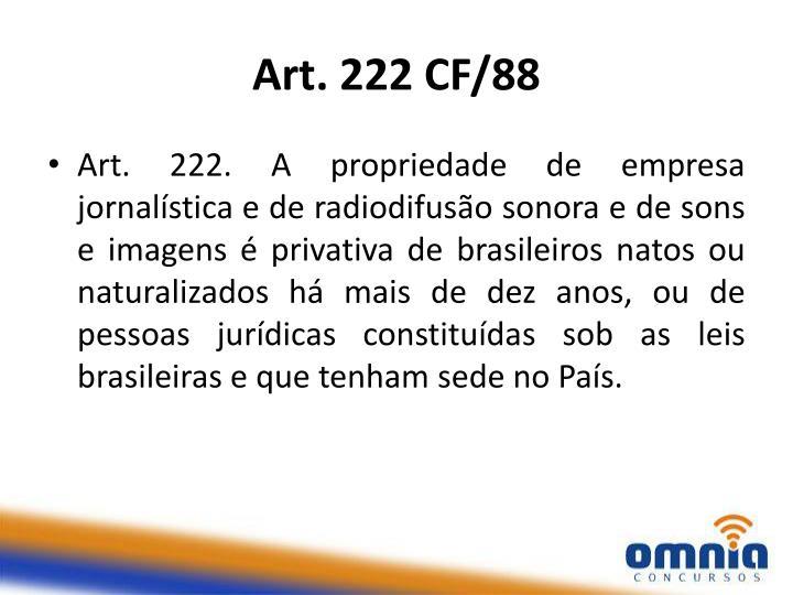 Art. 222 CF/88