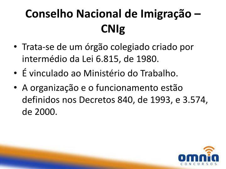 Conselho Nacional de Imigração –