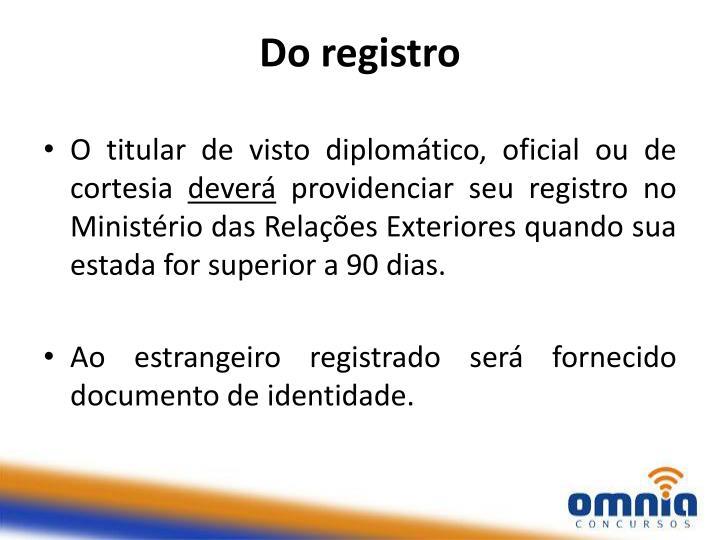 Do registro