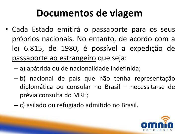 Documentos de viagem