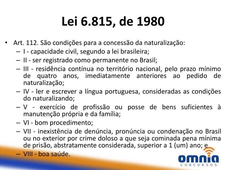 Lei 6.815, de 1980