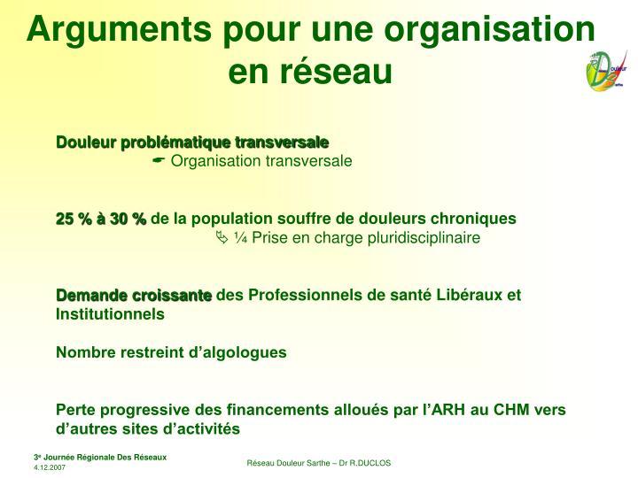 Arguments pour une organisation