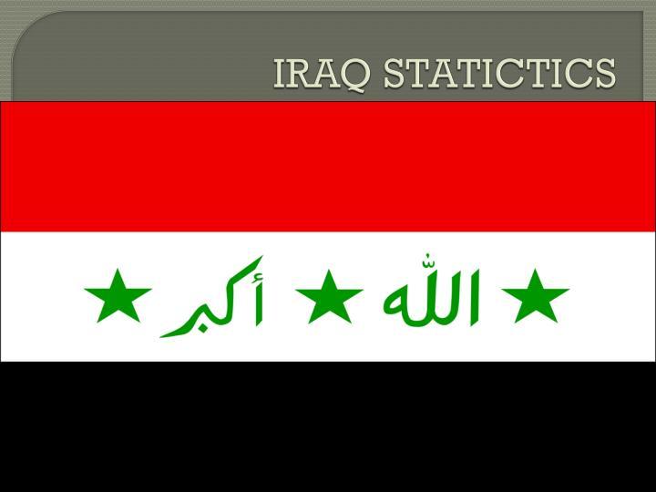 IRAQ STATICTICS