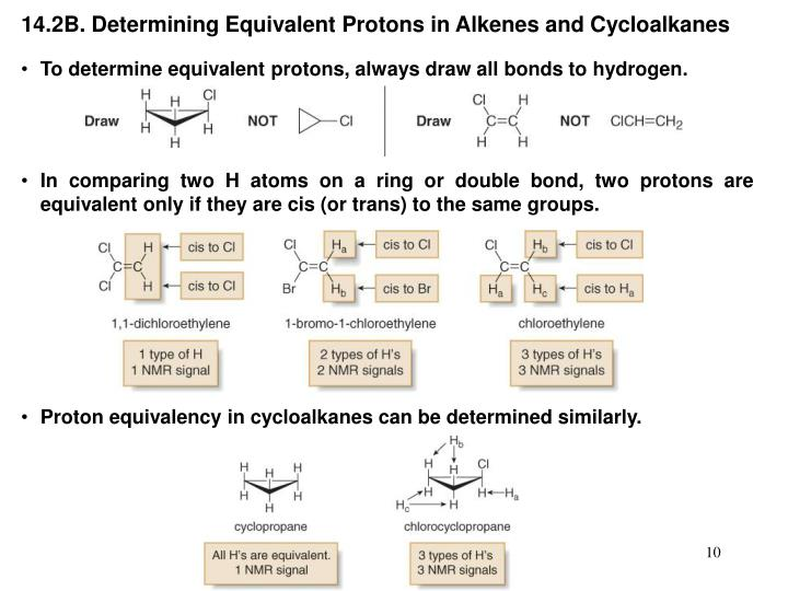 14.2B. Determining Equivalent Protons in Alkenes and Cycloalkanes