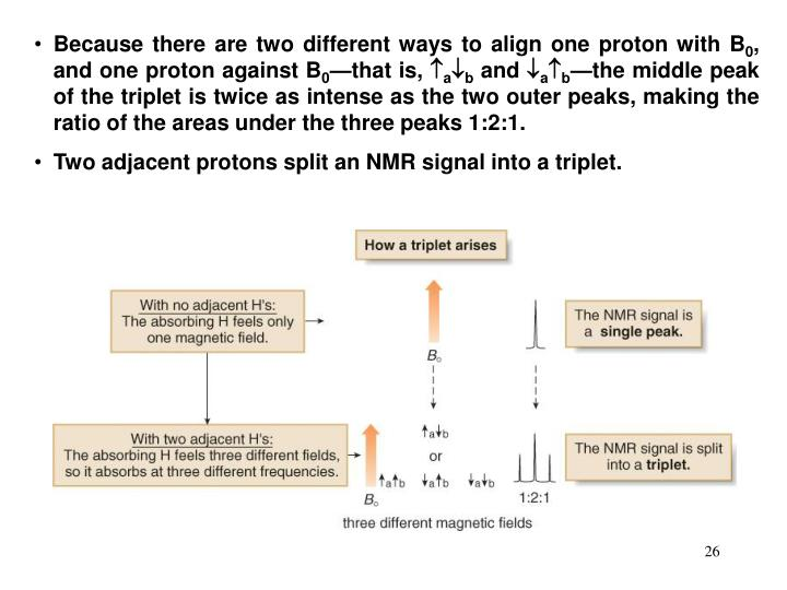 Because there are two different ways to align one proton with B