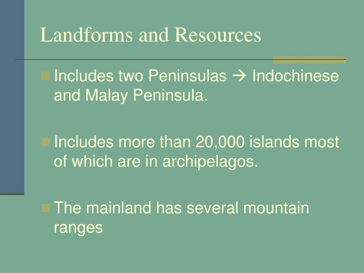 Landforms and Resources