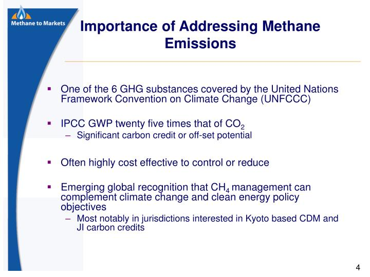 Importance of Addressing Methane Emissions