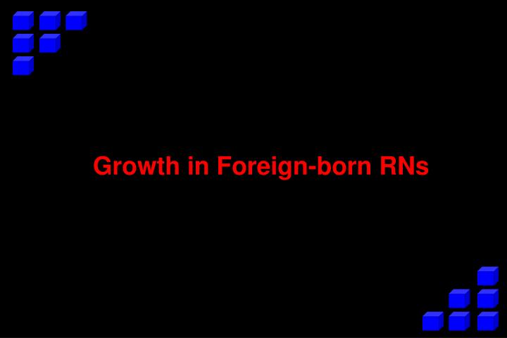 Growth in Foreign-born RNs