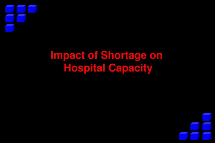 Impact of Shortage on