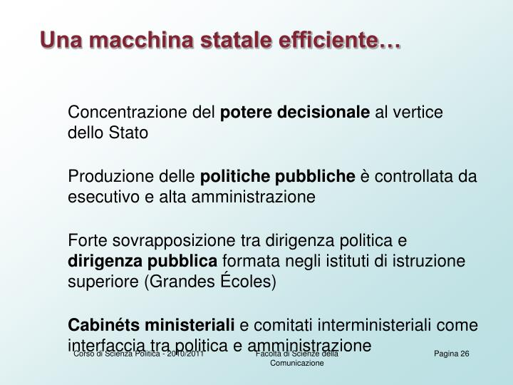 Una macchina statale efficiente…