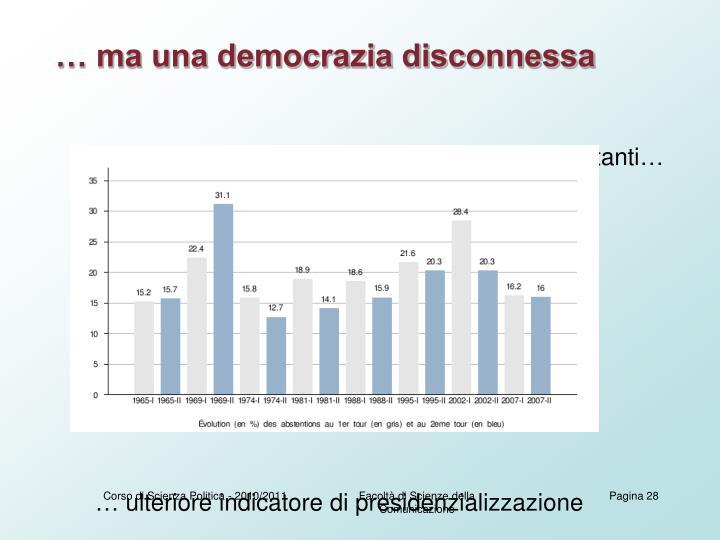… ma una democrazia disconnessa