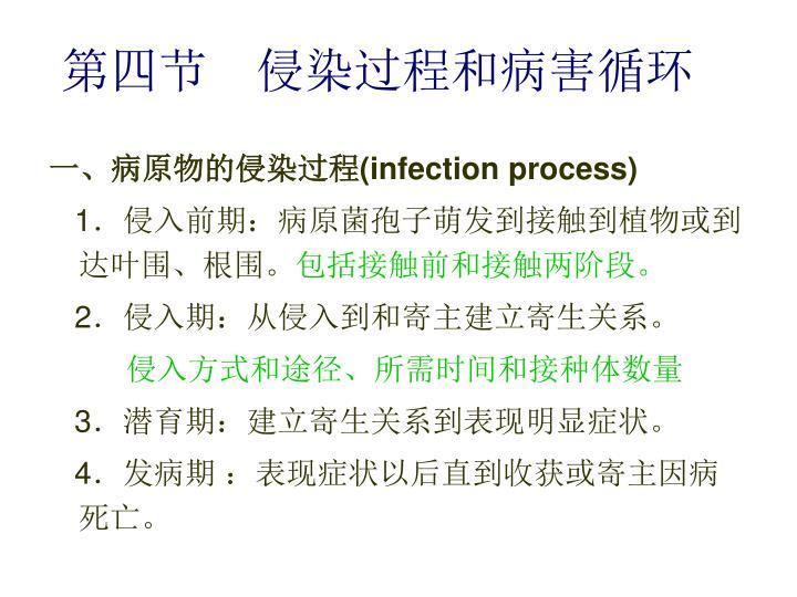第四节  侵染过程和病害循环
