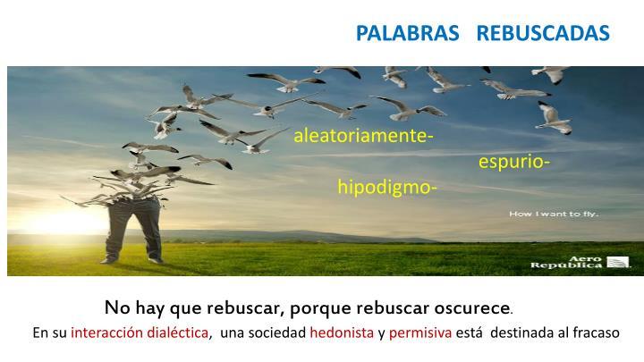 PALABRAS   REBUSCADAS