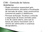 cvm comiss o de valores mobili rios