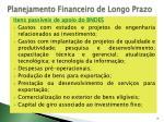planejamento financeiro de longo prazo31