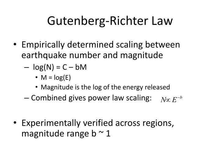Gutenberg-Richter Law