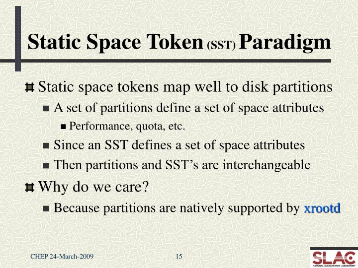Static Space Token