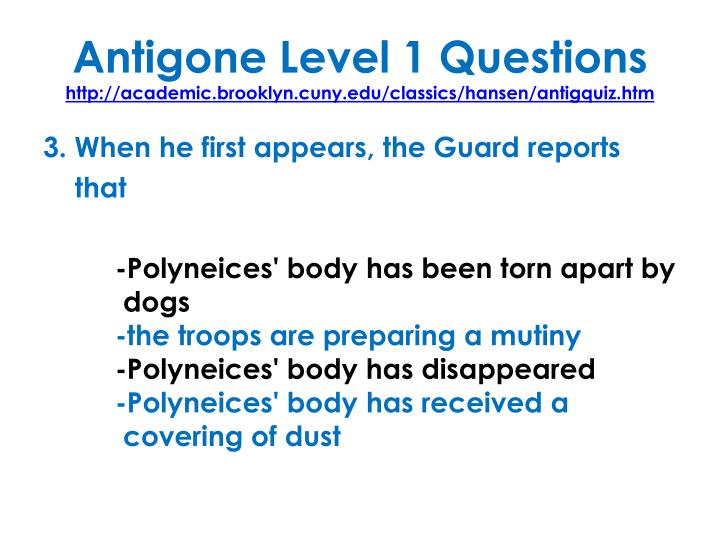 Antigone Level 1